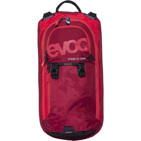 EVOC Stage Team Technical Performance Pack 3 L + væskeblære 2 L, red-ruby